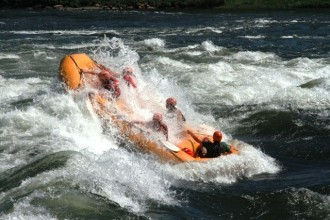 Rafting in the white Nile Uganda